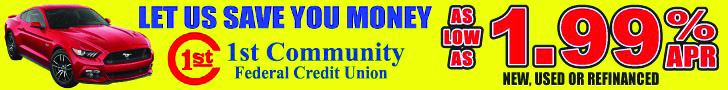 1st Community Federal Credit Union Banner