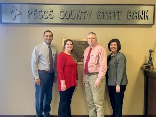 Pecos County State Bank had four employees, Isai Rojas, Lisa Chavarria, Bill McAnally, Amy Roberts Ontiveros