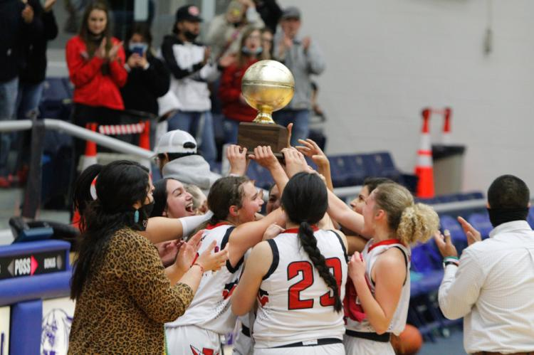 Iraan Girls Basketball trophy ceremony
